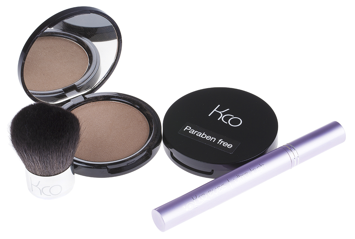 Two Kco Compacts, Mascara & Brush